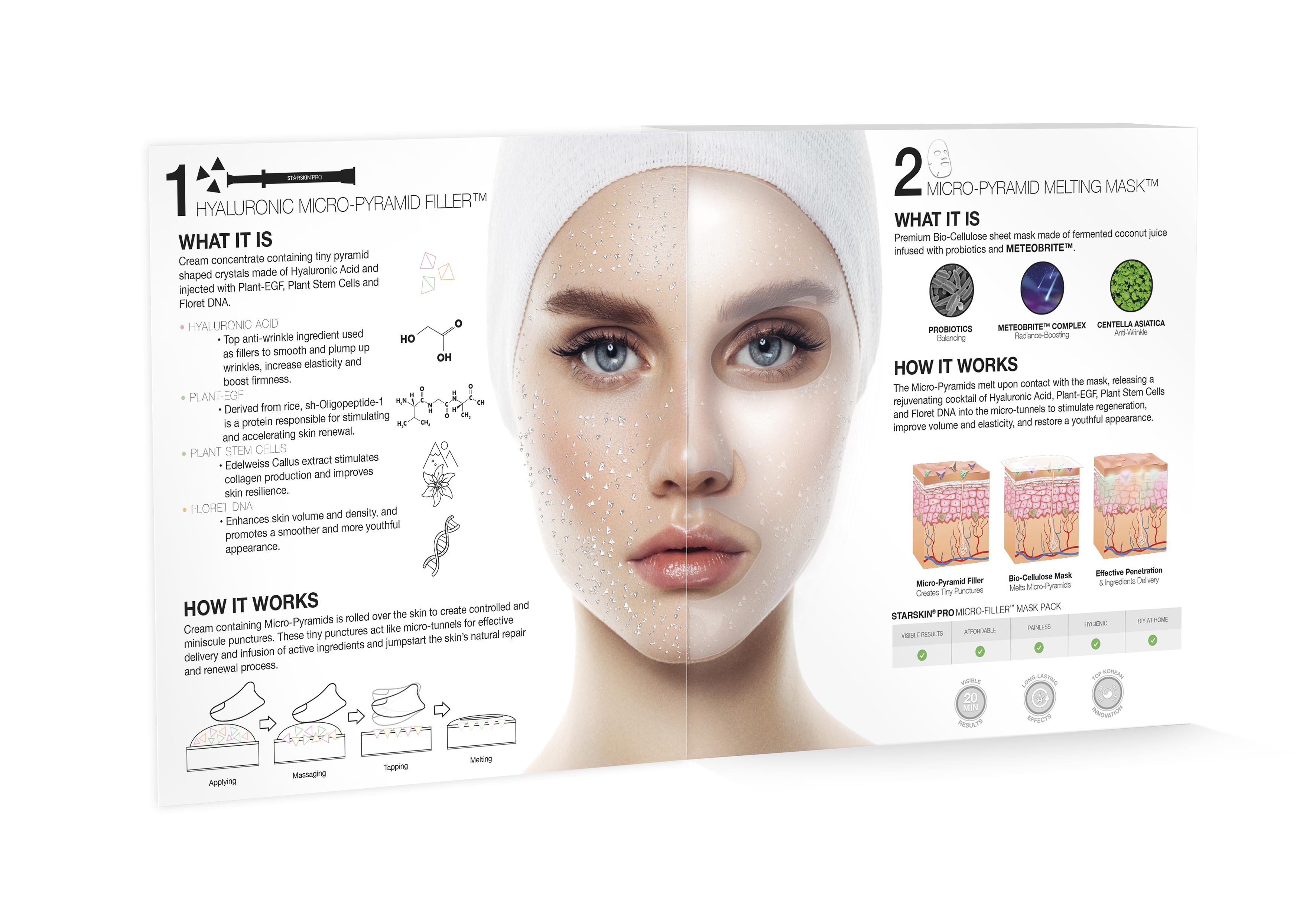 STARSKIN Micro-Filler Mask Pack - 4