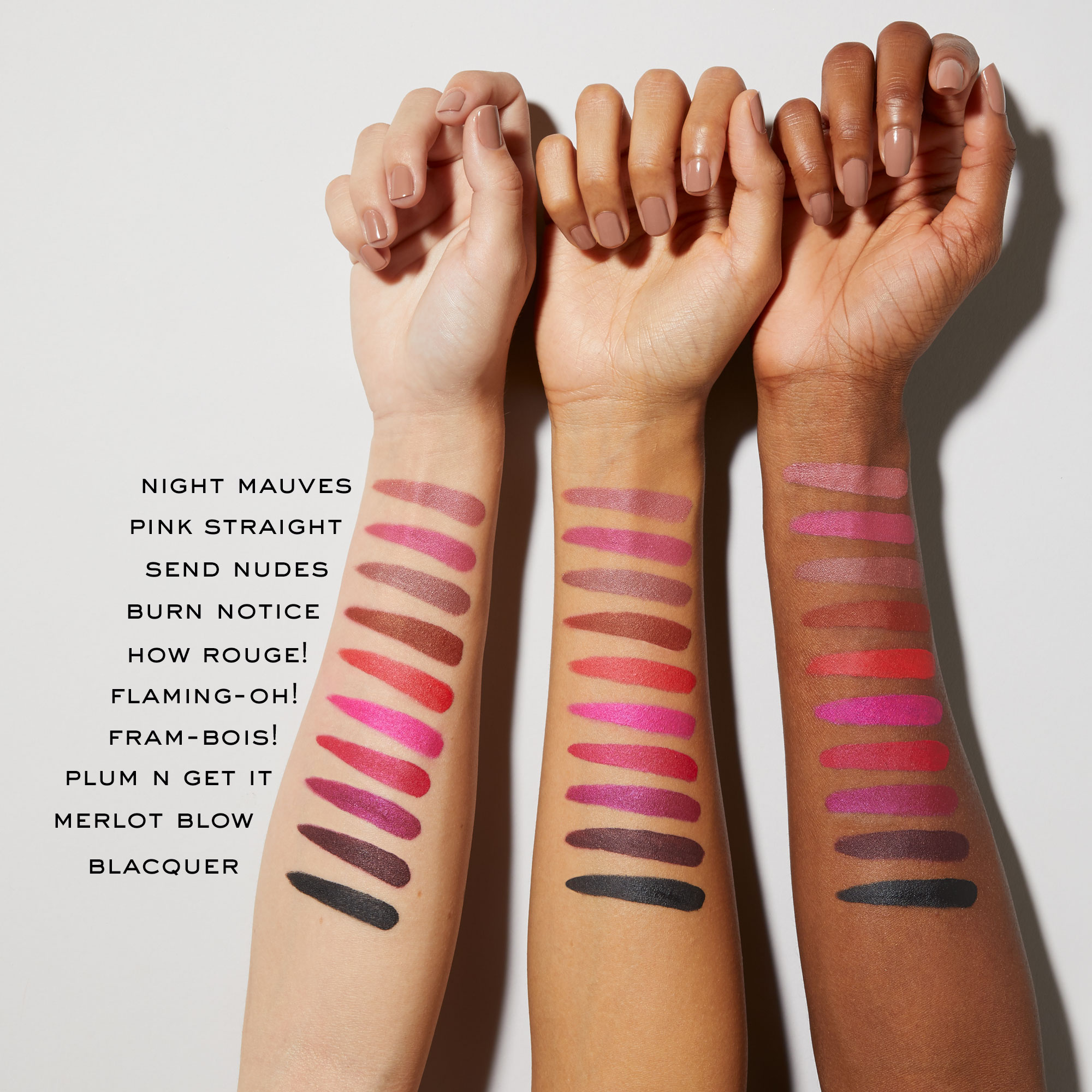 Marc Jacobs Beauty Le Marc Liquid Lip Crayons Arm Swatches 2