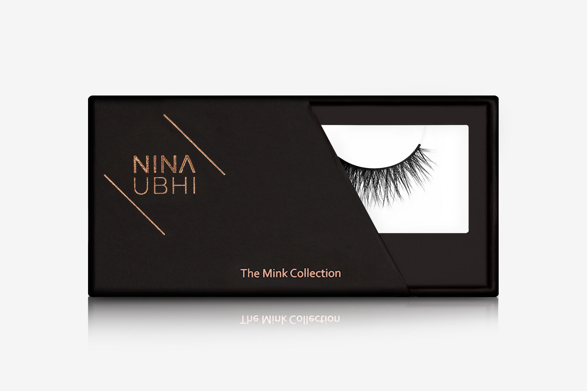 Ella Mink Lashes, false eyelashes in a Nina Ubhi branded box
