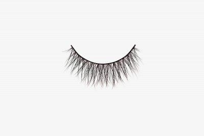 Ella Mink Lashes, single false lash on grey background