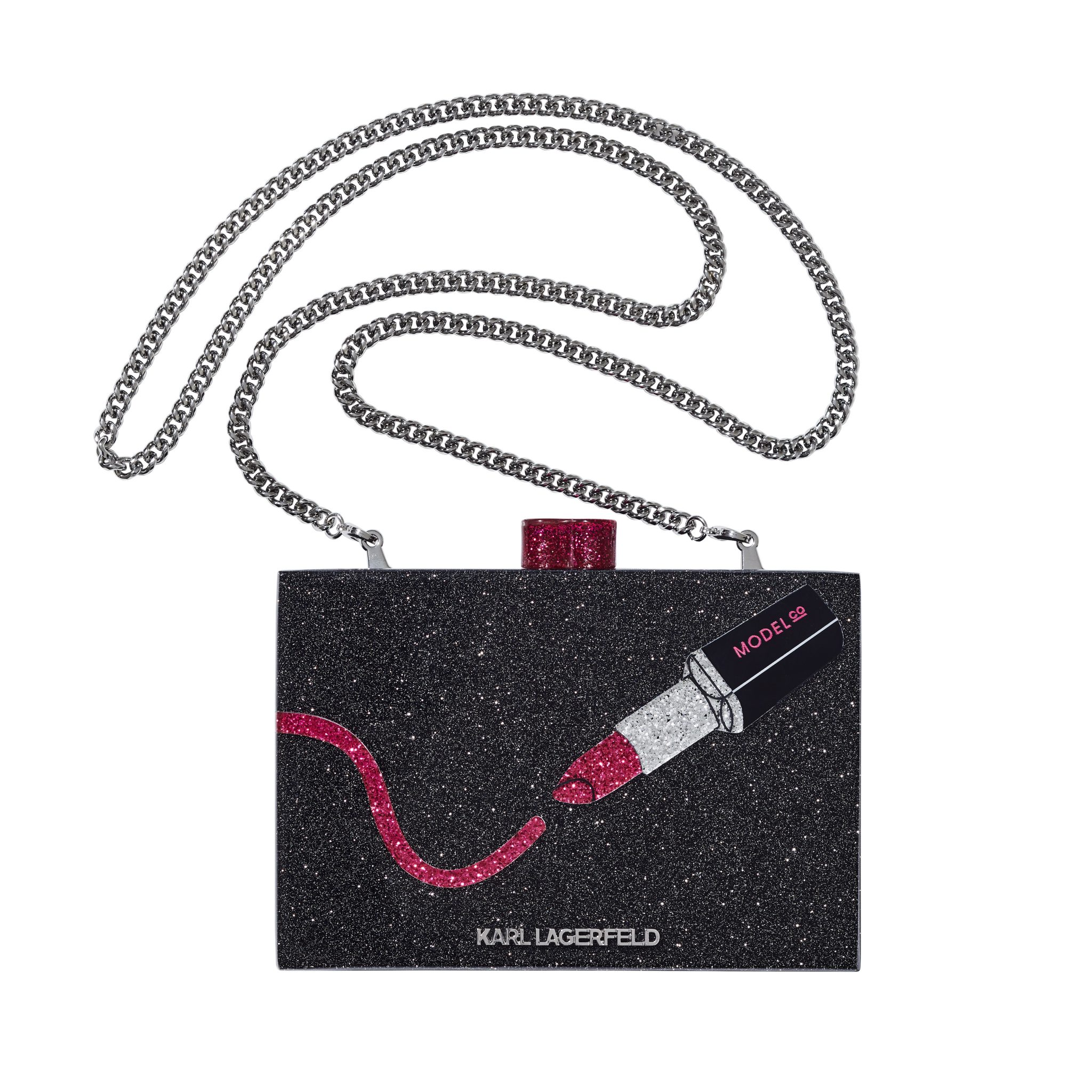 KARL LAGERFELD + MODELCO MINAUDIERE WITH MINI LIP KIT