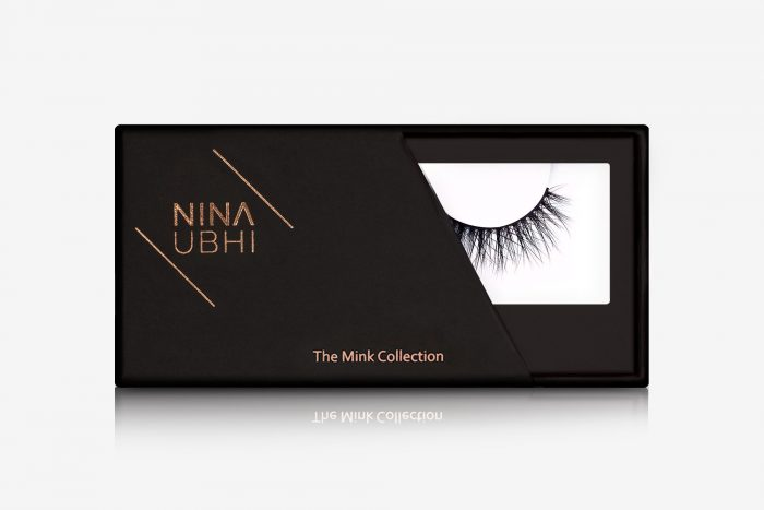 Amelia Mink Lashes, false eyelashes in a Nina Ubhi branded box