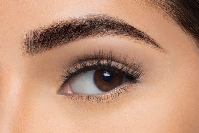Amelia Mink Lashes, close up of ladies eye wearing false eyelash