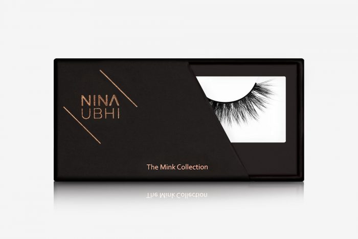 Anya Mink Lashes, false eyelashes in a Nina Ubhi branded box