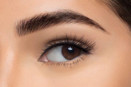 Anya Mink Lashes, close up of ladies eye wearing false eyelash