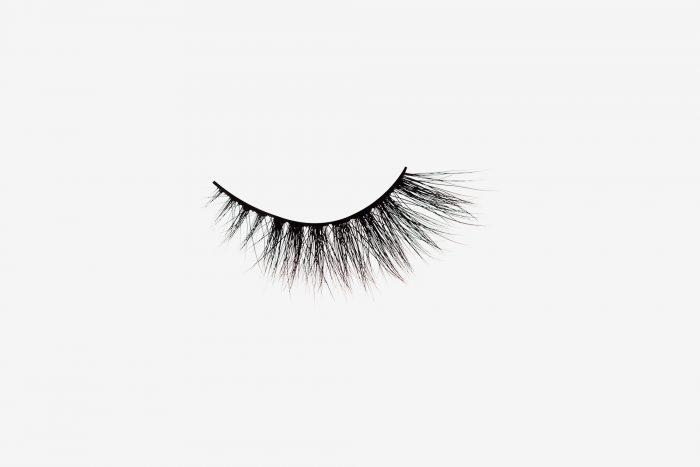 Anya Mink Lashes, single false lash on grey background