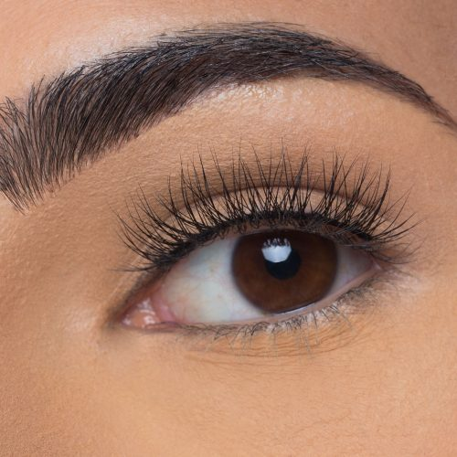 Ella Mink Lashes, close up of ladies eye wearing false eyelash