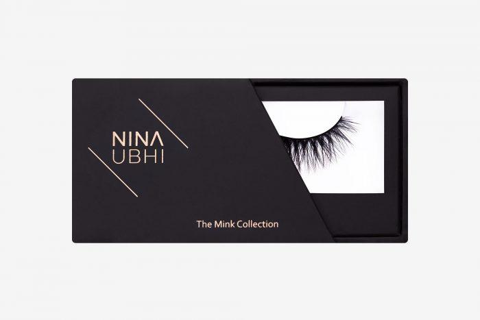 Eva Mink Lashes, false eyelashes in a Nina Ubhi branded box