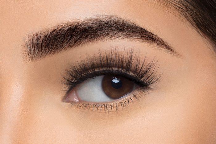 Lola Mink Lashes, close up of ladies eye wearing false eyelash
