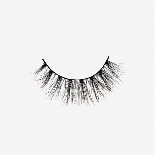 Nina Mink Lashes, single false lash on grey background