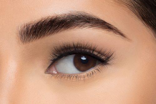 Olivia Mink Lashes, close up of ladies eye wearing false eyelash