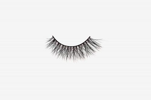 Olivia Mink Lashes, single false lash on grey background
