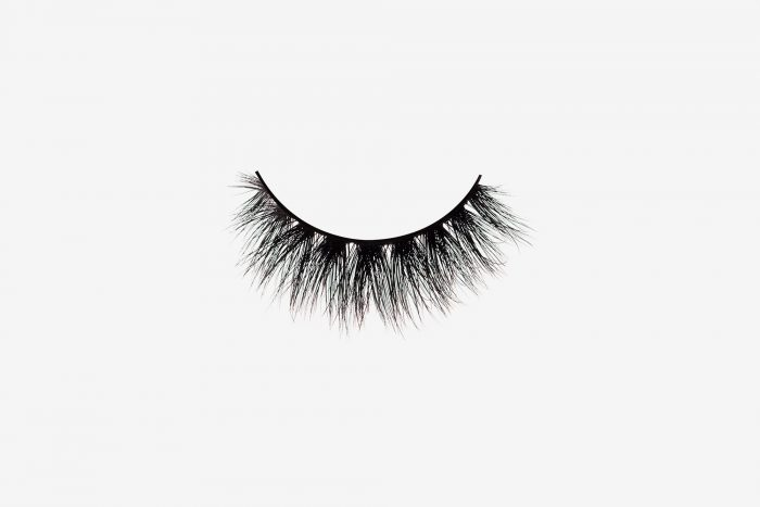 Savanna Mink Lashes, single false lash on grey background