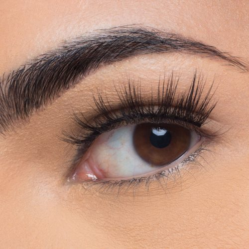 Sienna Mink Lashes, close up of ladies eye wearing false eyelash