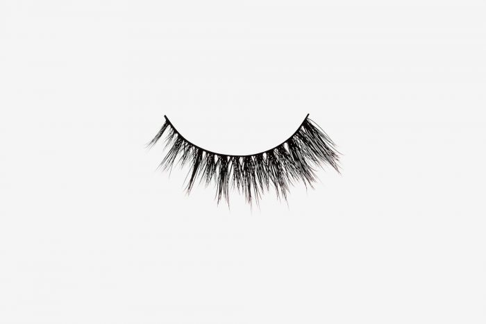 Sienna Mink Lashes, single false lash on grey background
