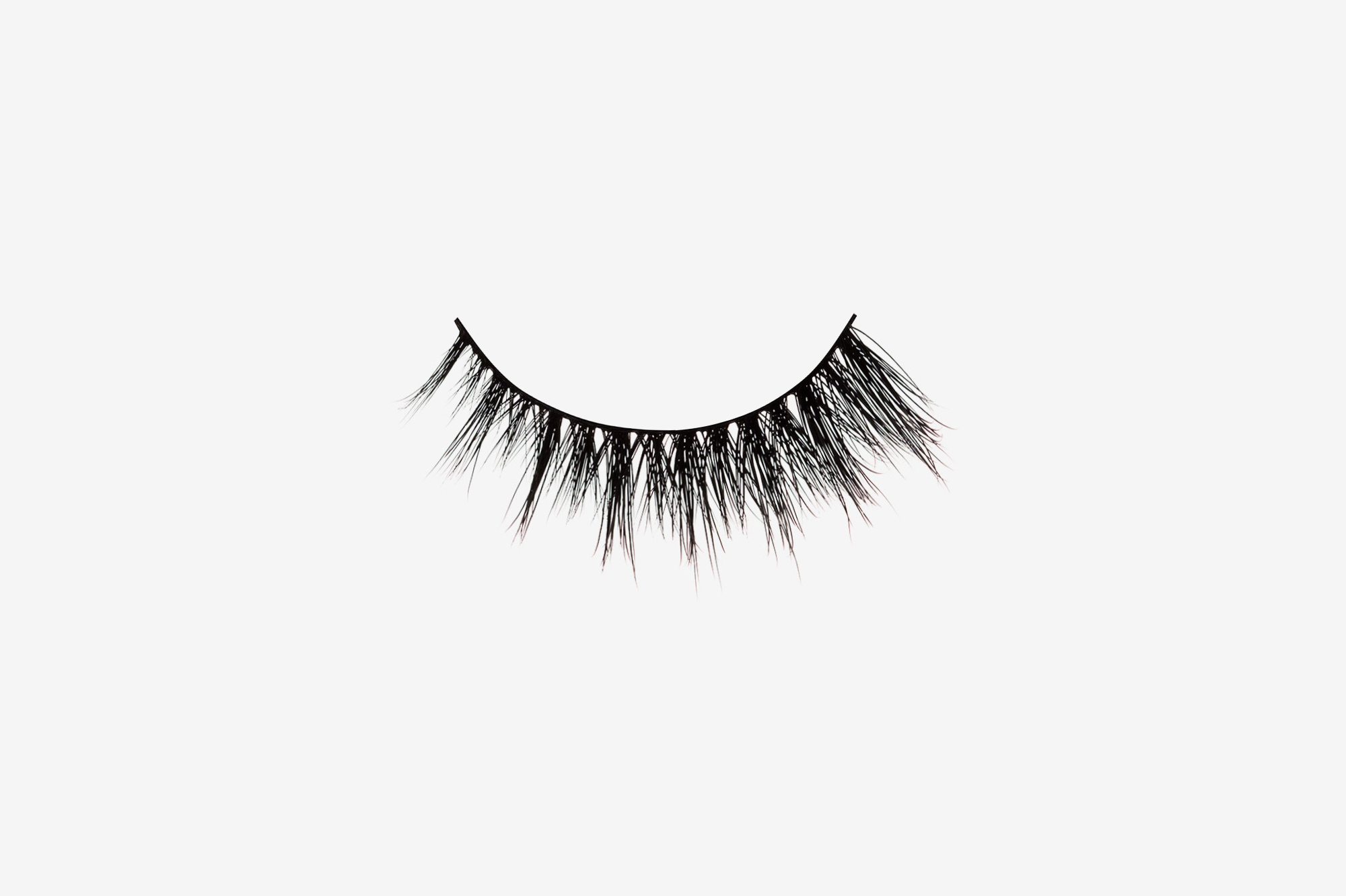 Sienna Mink Lashes, single false lash on grey background