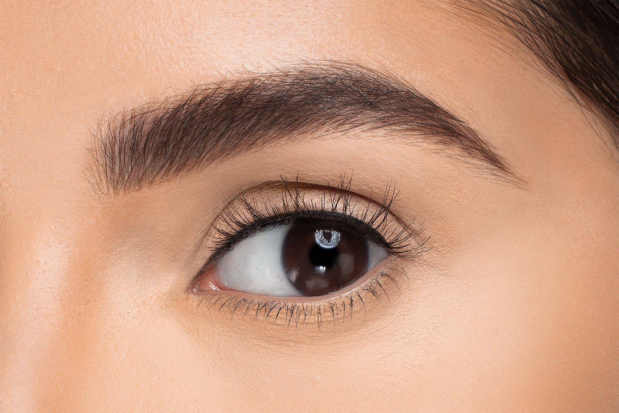 Carey False Eyelashes, close up of ladies eye wearing false eyelash