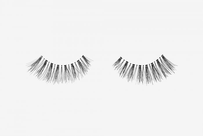 Daisy False Eyelashes, pair of false eyelashes side by side on grey background