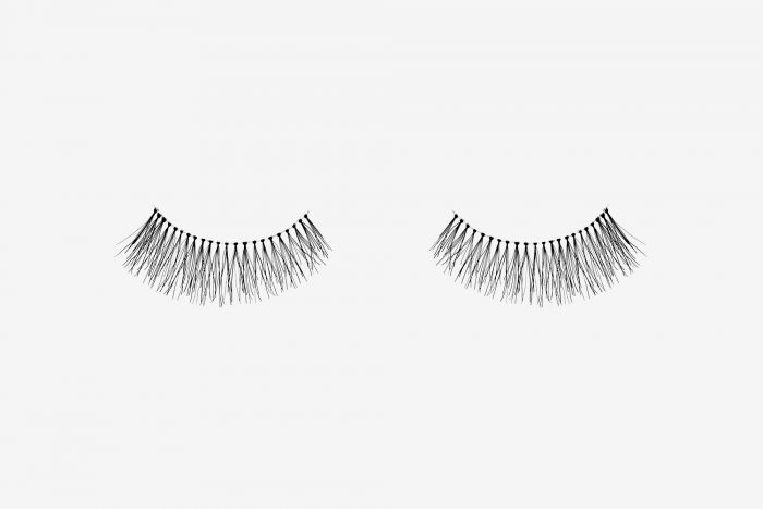 Emily False Eyelashes, pair of false eyelashes side by side on grey background