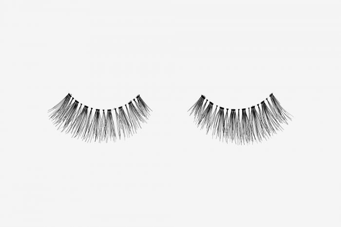 Ivy False Eyelashes, pair of false eyelashes side by side on grey background