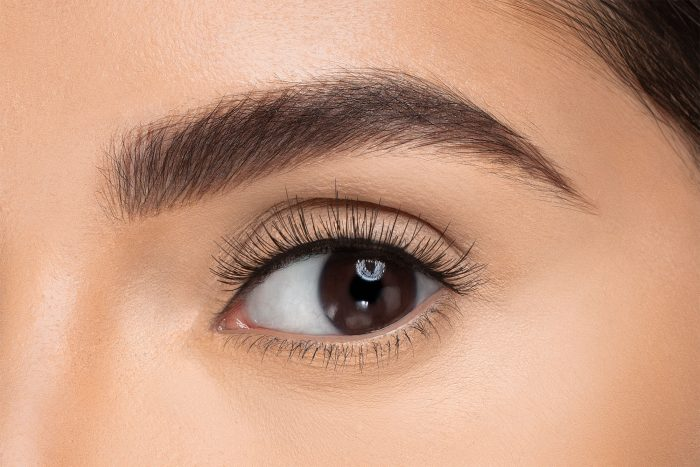 Kimberley False Eyelashes, close up of ladies eye wearing false eyelash