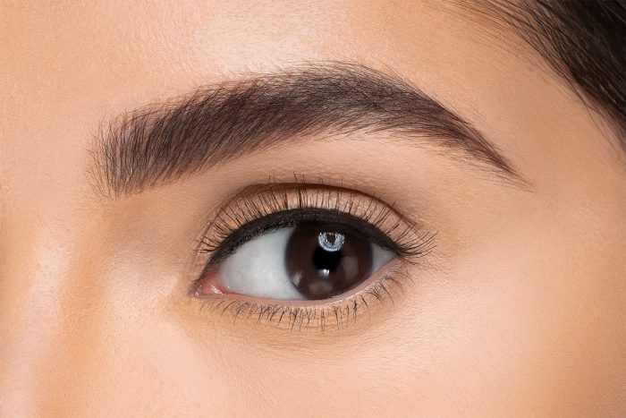 Kourtney False Eyelashes, close up of ladies eye wearing false eyelash