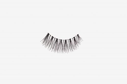 Kourtney False Eyelashes, single false lash on grey background