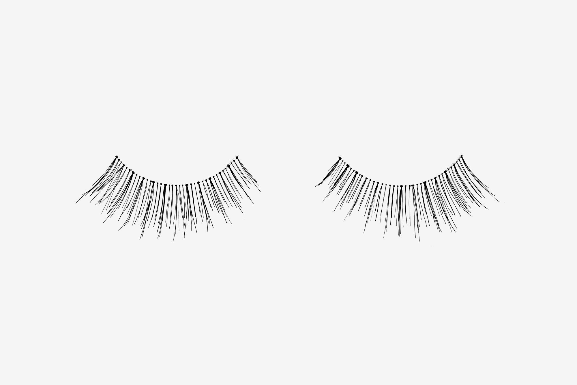 Lilly False Eyelashes, pair of false eyelashes side by side on grey background
