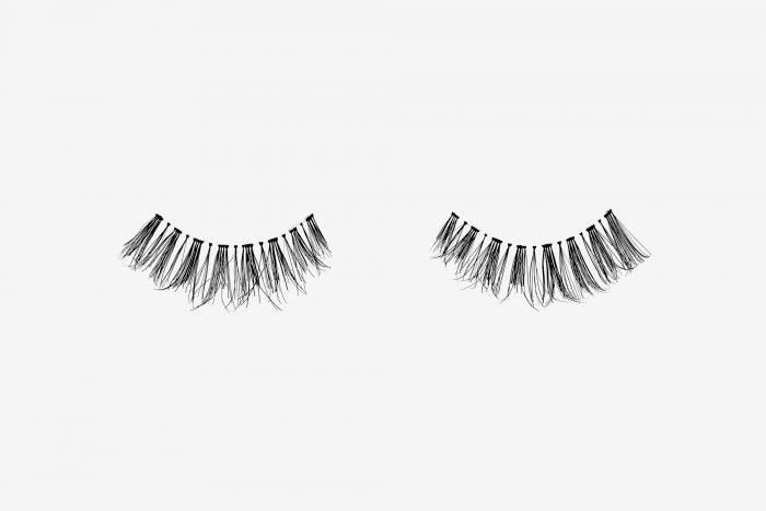 Penelopy False Eyelashes, pair of false eyelashes side by side on grey background
