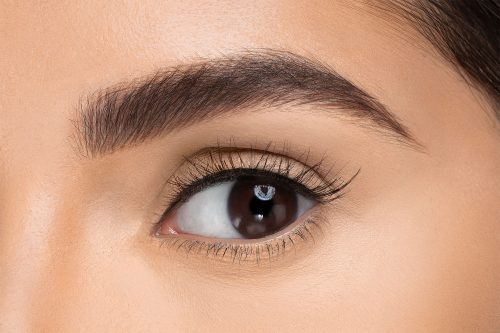 Penelopy False Eyelashes, close up of ladies eye wearing false eyelash