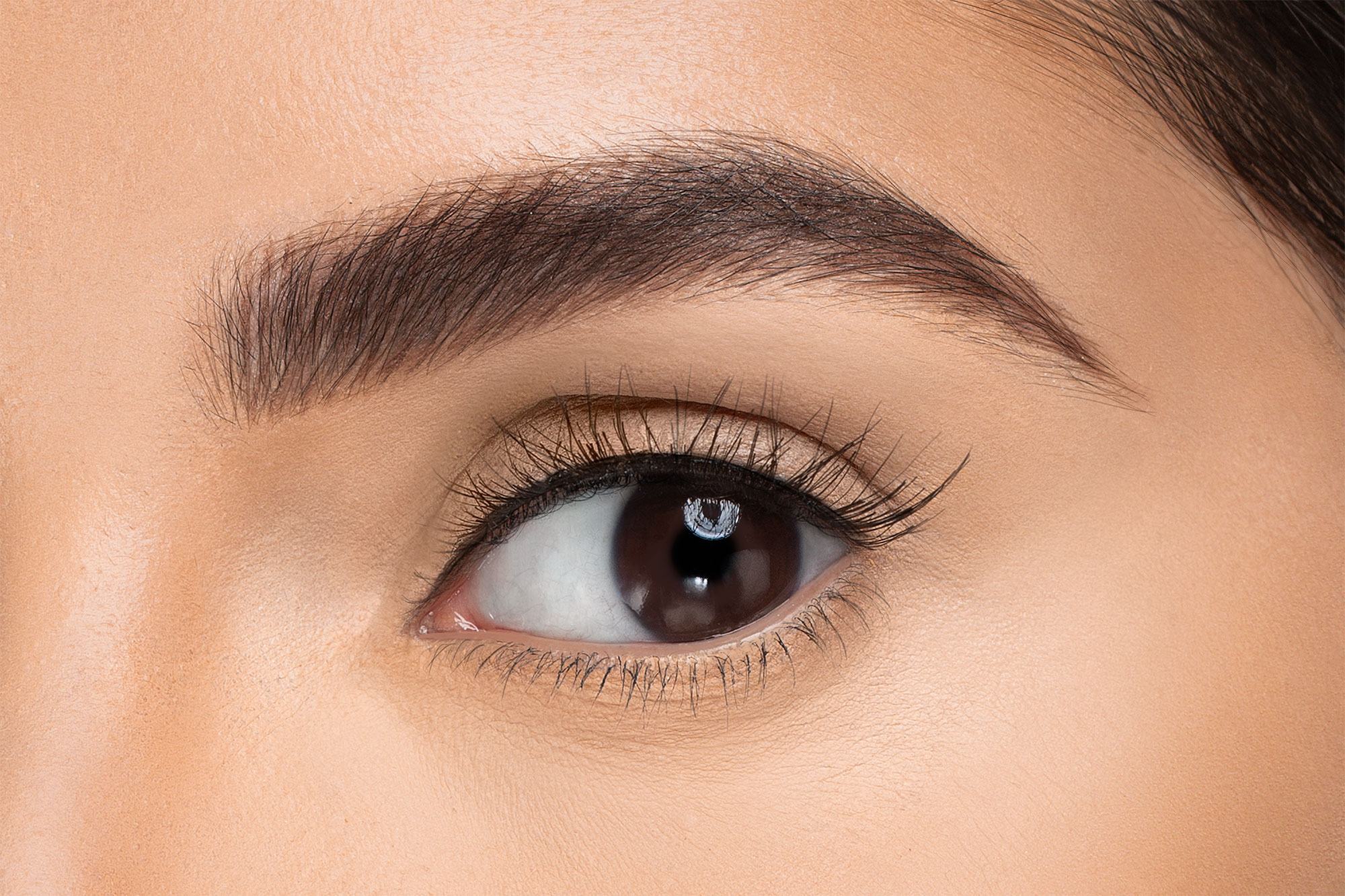 Penelopy False Eyelashes, close up of ladies eye wearing false eyelash