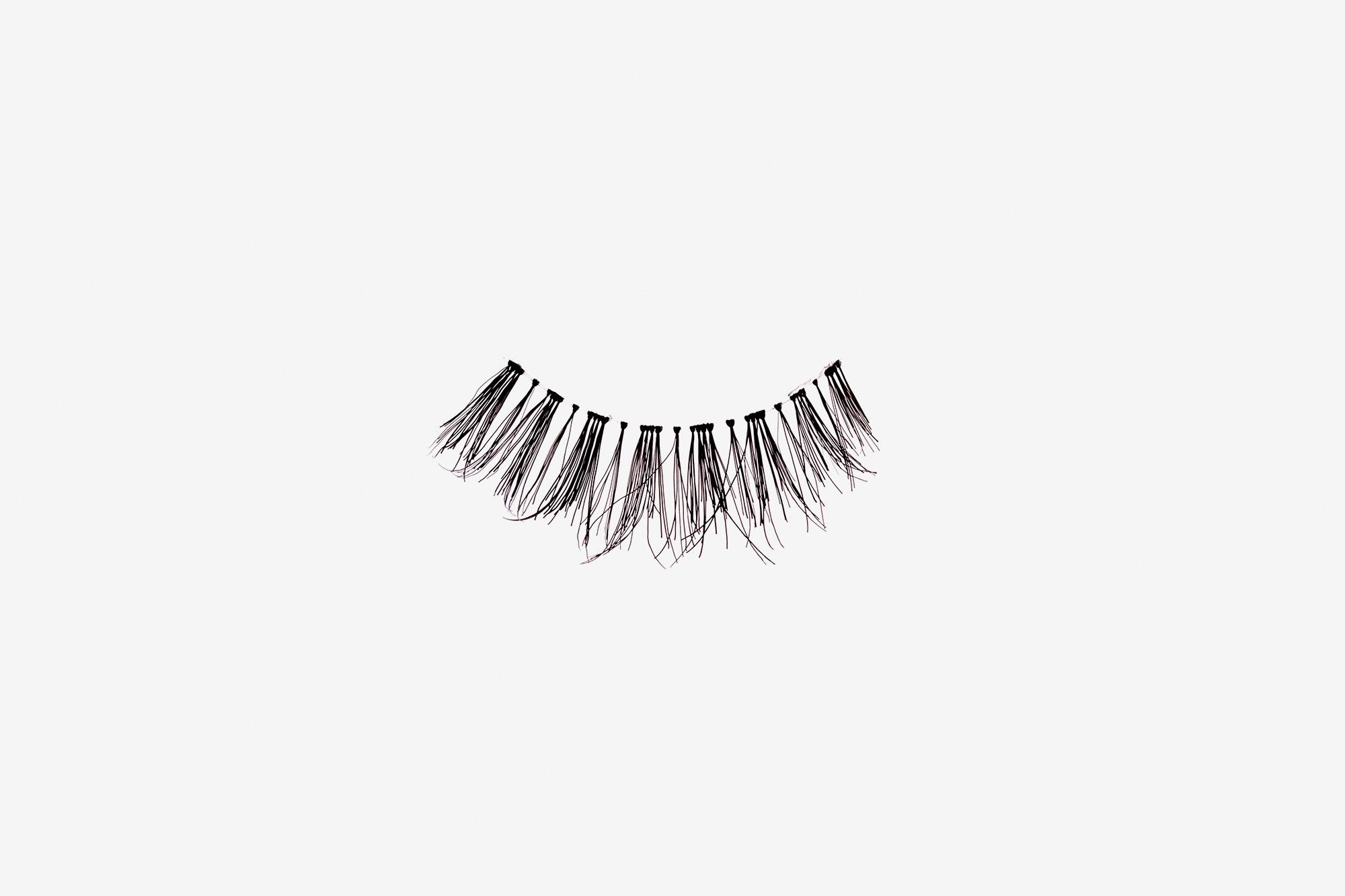 Penelopy False Eyelashes, single false lash on grey background