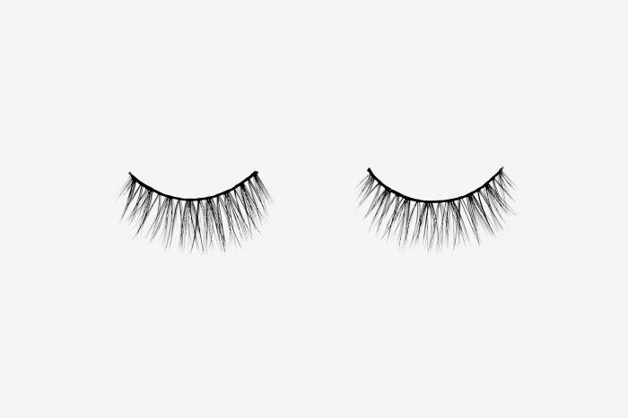 Poppy False Eyelashes, pair of false eyelashes side by side on grey background