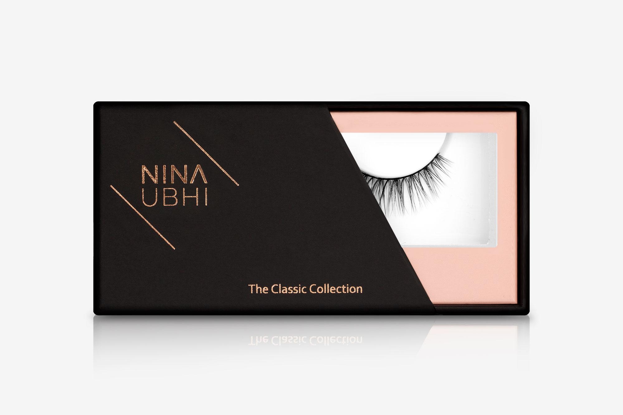 Poppy False Eyelashes, false eyelashes in a Nina Ubhi branded box